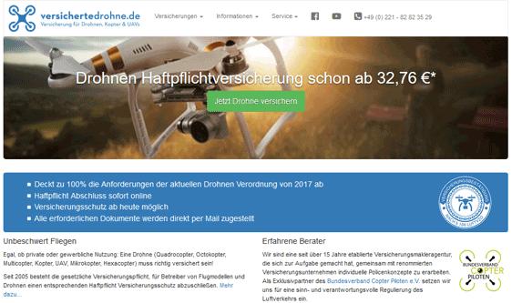Drohnen Haftpflicht Angebote von versichertedrohne.de